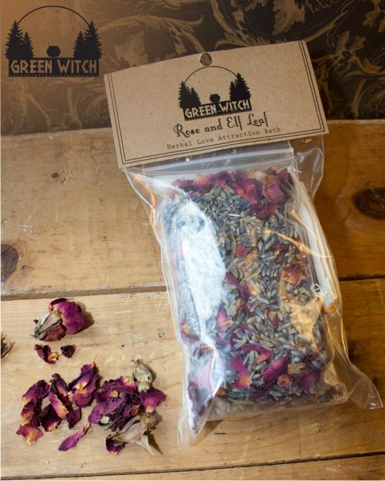 Rose and Elf Leaf bath merch pic 1