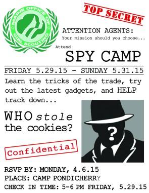 SPY CAMP flyer